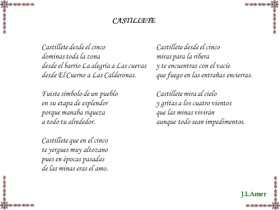CASTILLETE Castillete desde el cinco. dominas toda la zona. desde el barrio La alegría a Las cuevas.