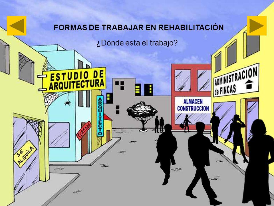 FORMAS DE TRABAJAR EN REHABILITACIÓN