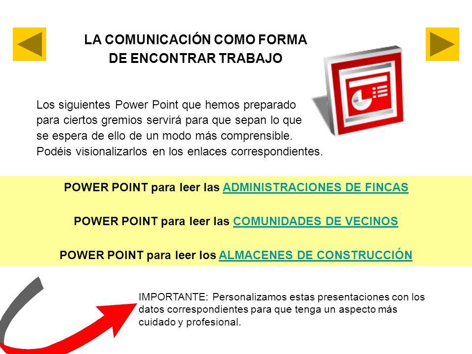 LA COMUNICACIÓN COMO FORMA DE ENCONTRAR TRABAJO
