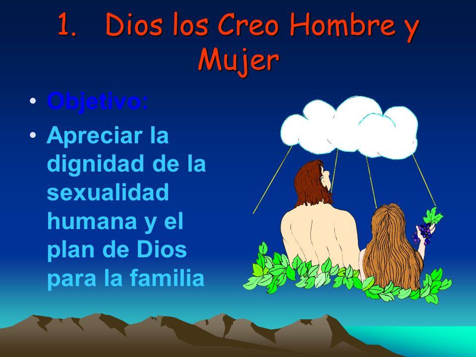 1. Dios los Creo Hombre y Mujer