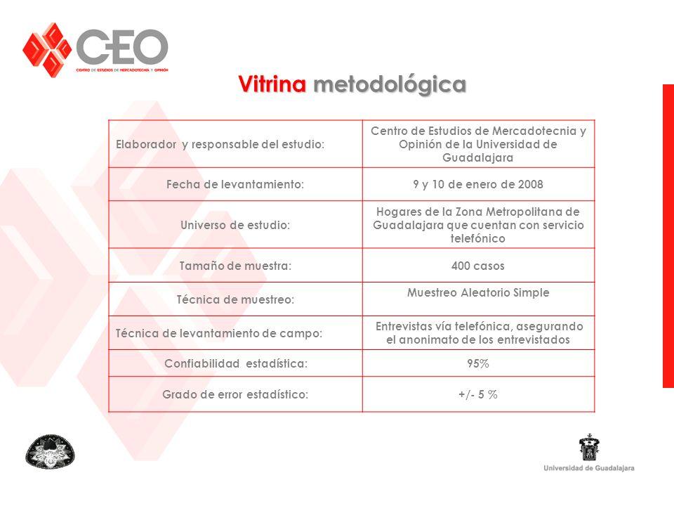 Vitrina metodológica Elaborador y responsable del estudio: