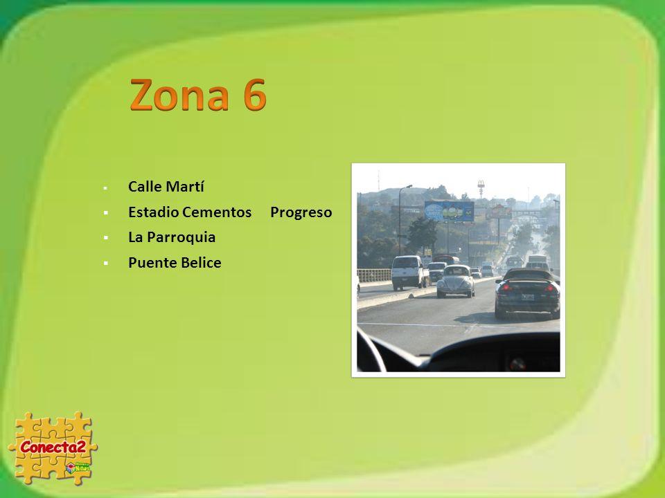 Zona 6 Calle Martí Estadio Cementos Progreso La Parroquia