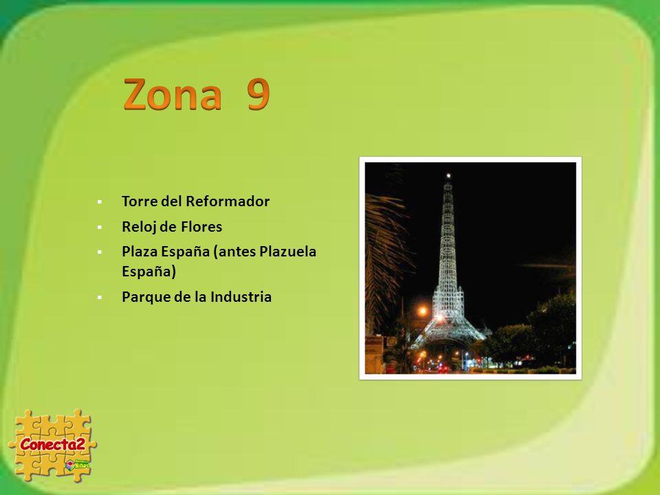 Zona 9 Torre del Reformador Reloj de Flores