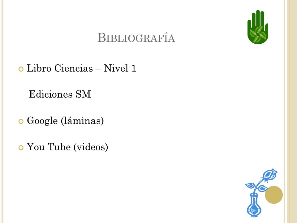 Bibliografía Libro Ciencias – Nivel 1 Ediciones SM Google (láminas)