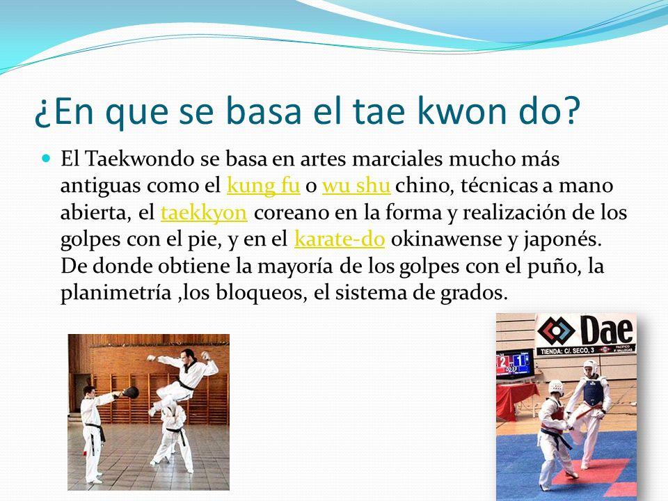 ¿En que se basa el tae kwon do