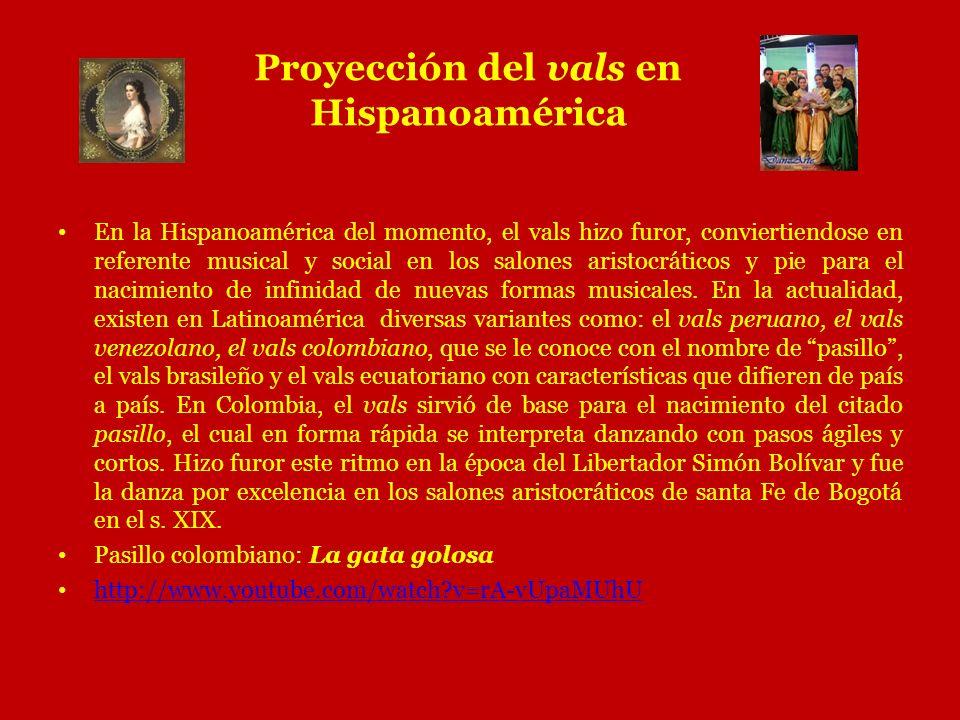Proyección del vals en Hispanoamérica