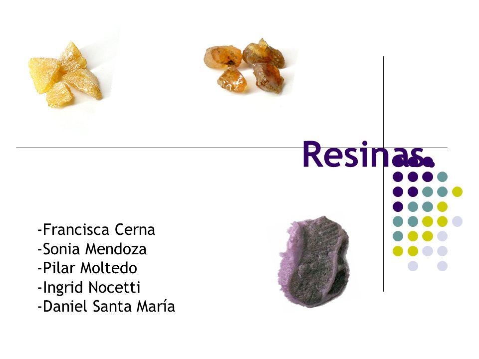 Resinas. -Francisca Cerna -Sonia Mendoza -Pilar Moltedo