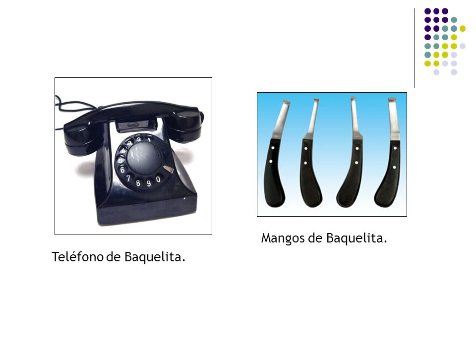 Mangos de Baquelita. Teléfono de Baquelita.