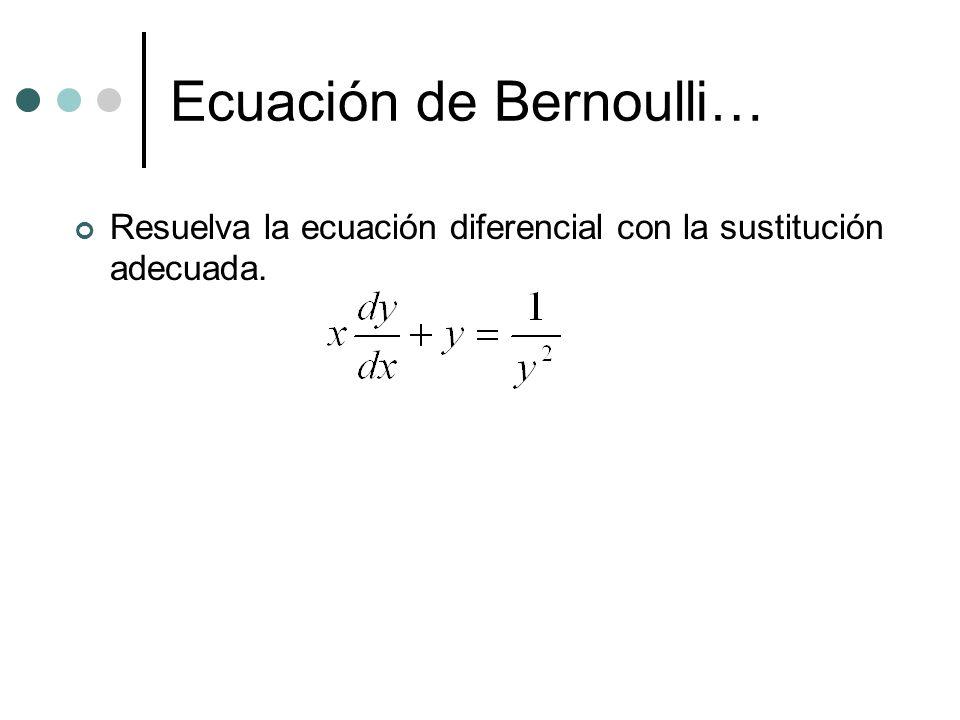 Ecuación de Bernoulli…