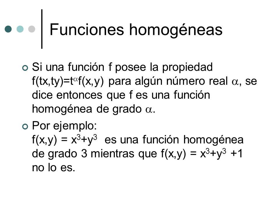Funciones homogéneas