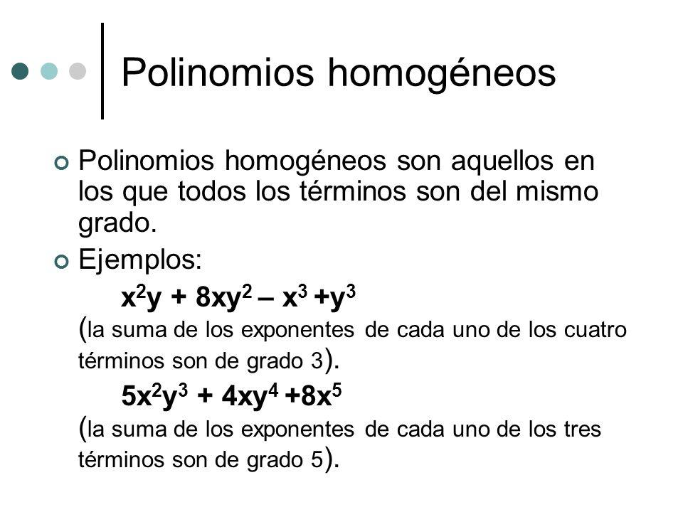 Polinomios homogéneos