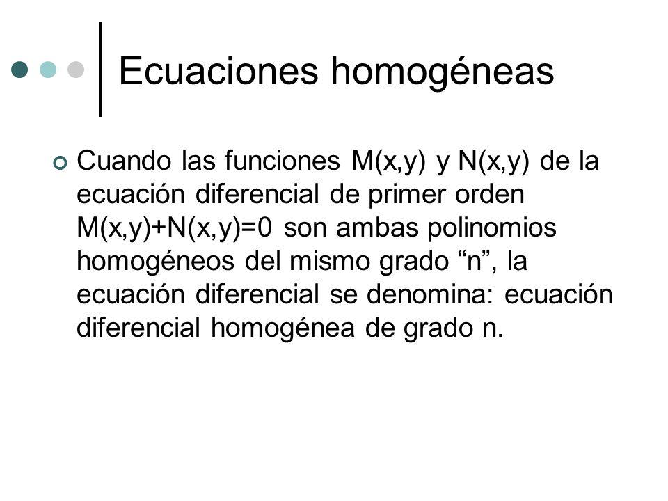 Ecuaciones homogéneas