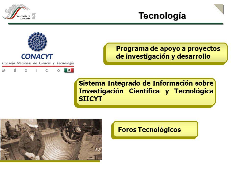 Tecnología Programa de apoyo a proyectos de investigación y desarrollo