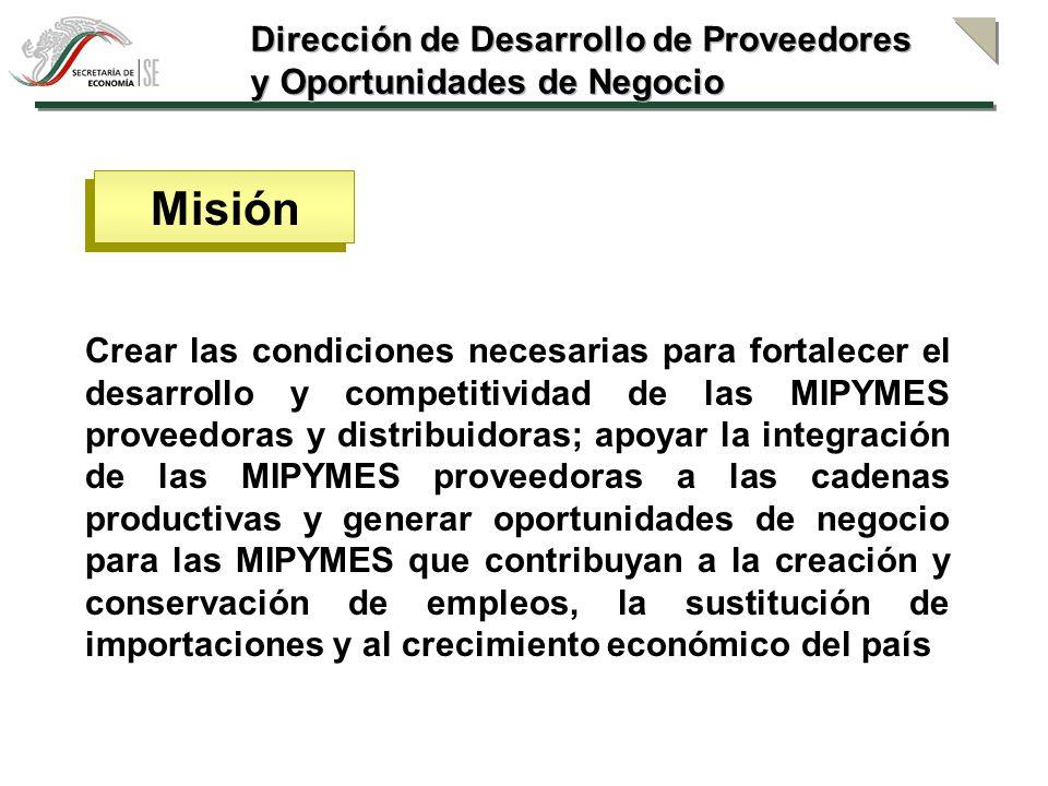 Misión Dirección de Desarrollo de Proveedores