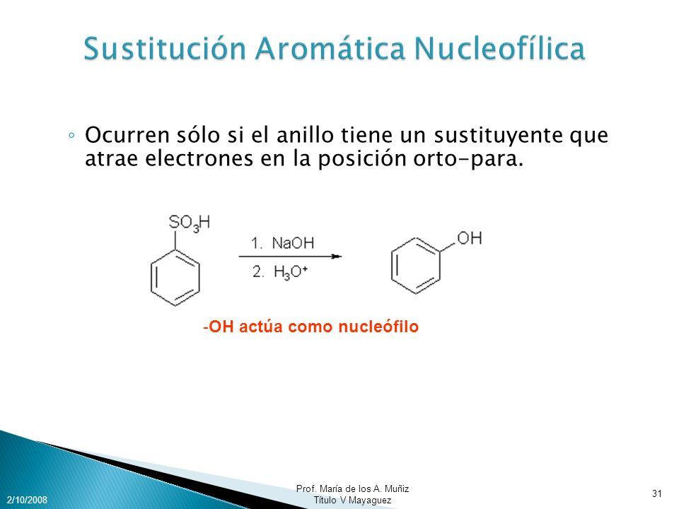 Sustitución Aromática Nucleofílica