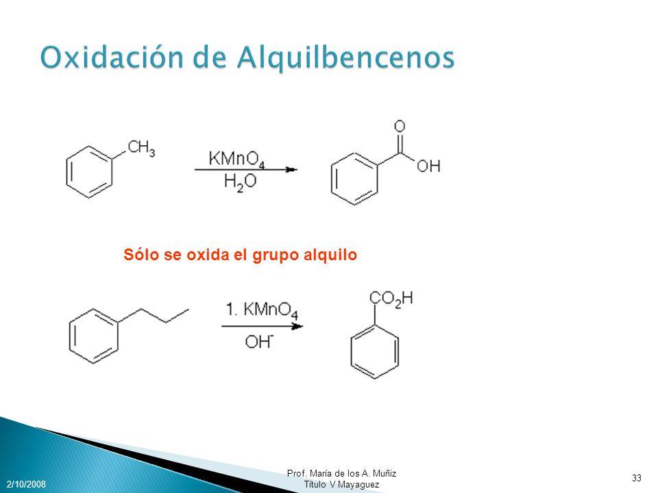 Oxidación de Alquilbencenos