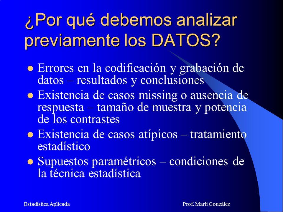¿Por qué debemos analizar previamente los DATOS