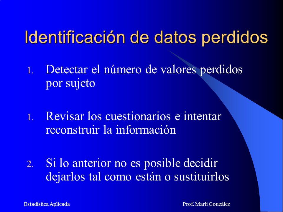 Identificación de datos perdidos