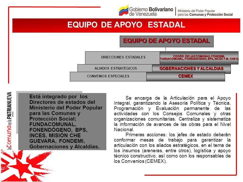 EQUIPO DE APOYO ESTADAL