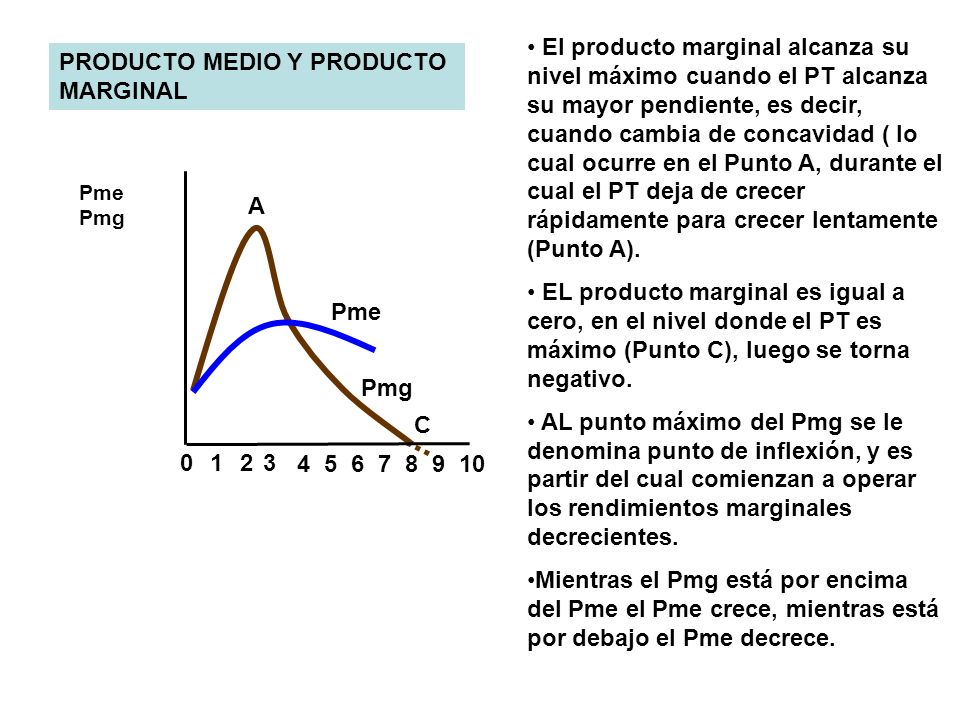 PRODUCTO MEDIO Y PRODUCTO MARGINAL