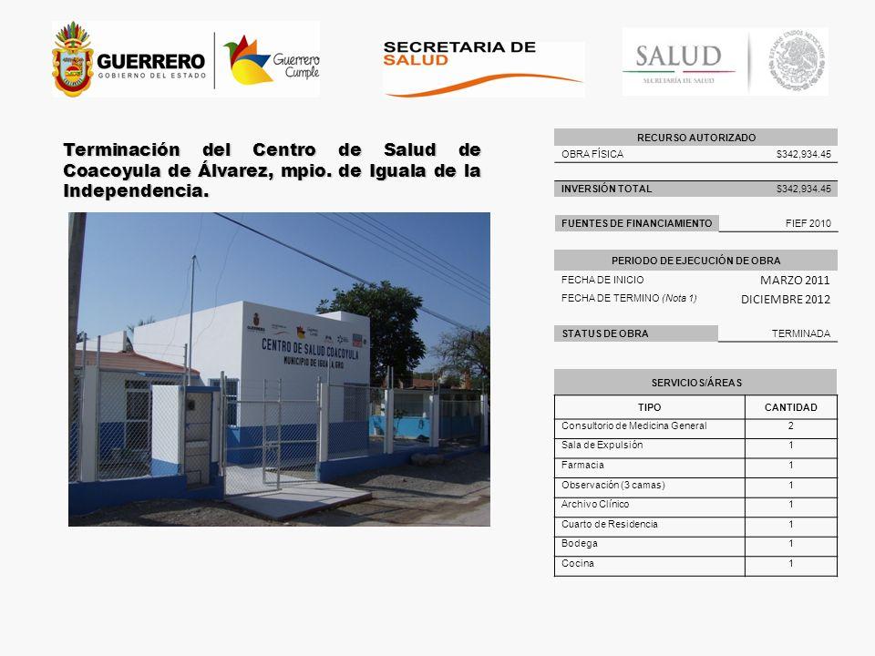 PERIODO DE EJECUCIÓN DE OBRA