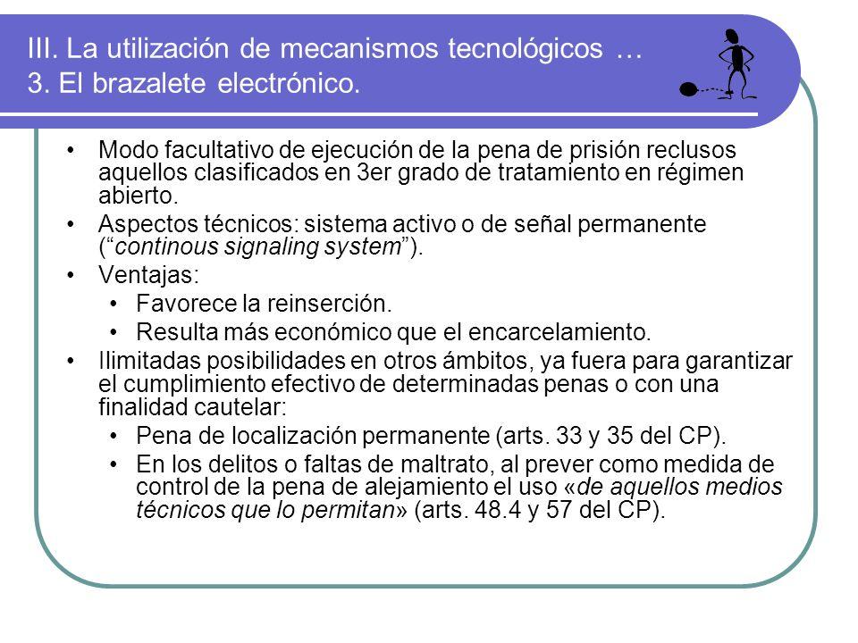 III. La utilización de mecanismos tecnológicos … 3