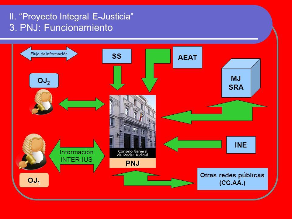 II. Proyecto Integral E-Justicia 3. PNJ: Funcionamiento