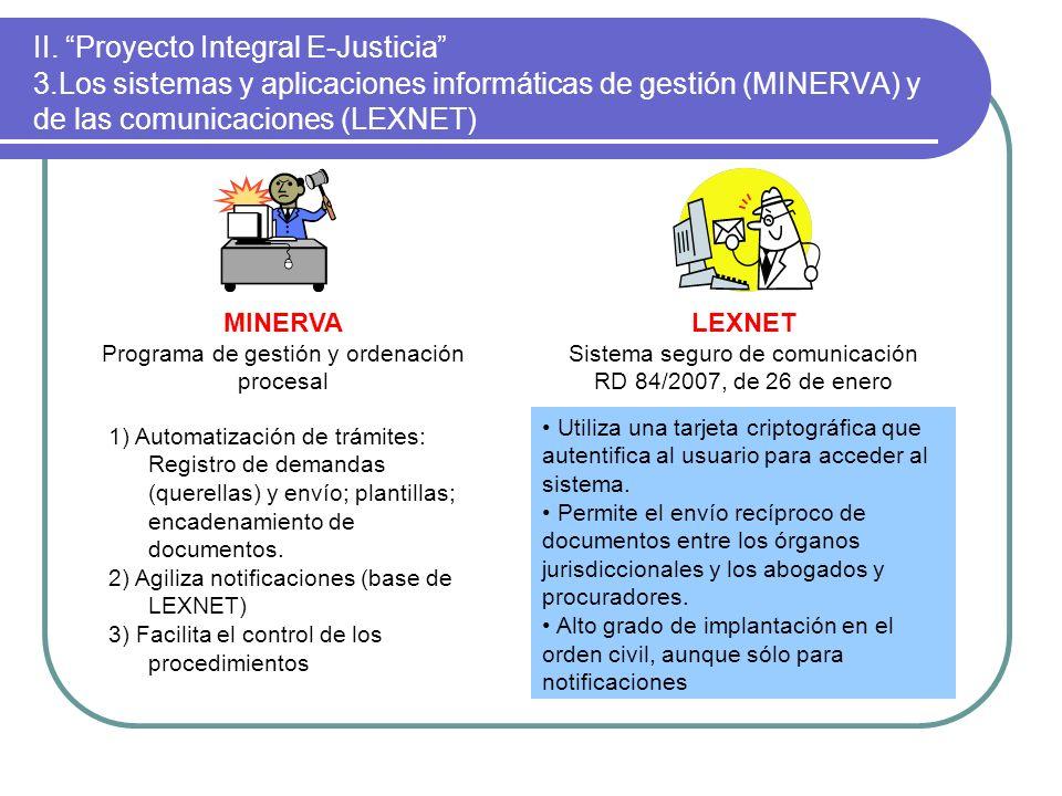 II. Proyecto Integral E-Justicia 3