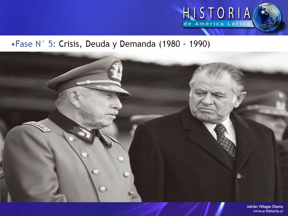 Fase N° 5: Crisis, Deuda y Demanda (1980 – 1990)
