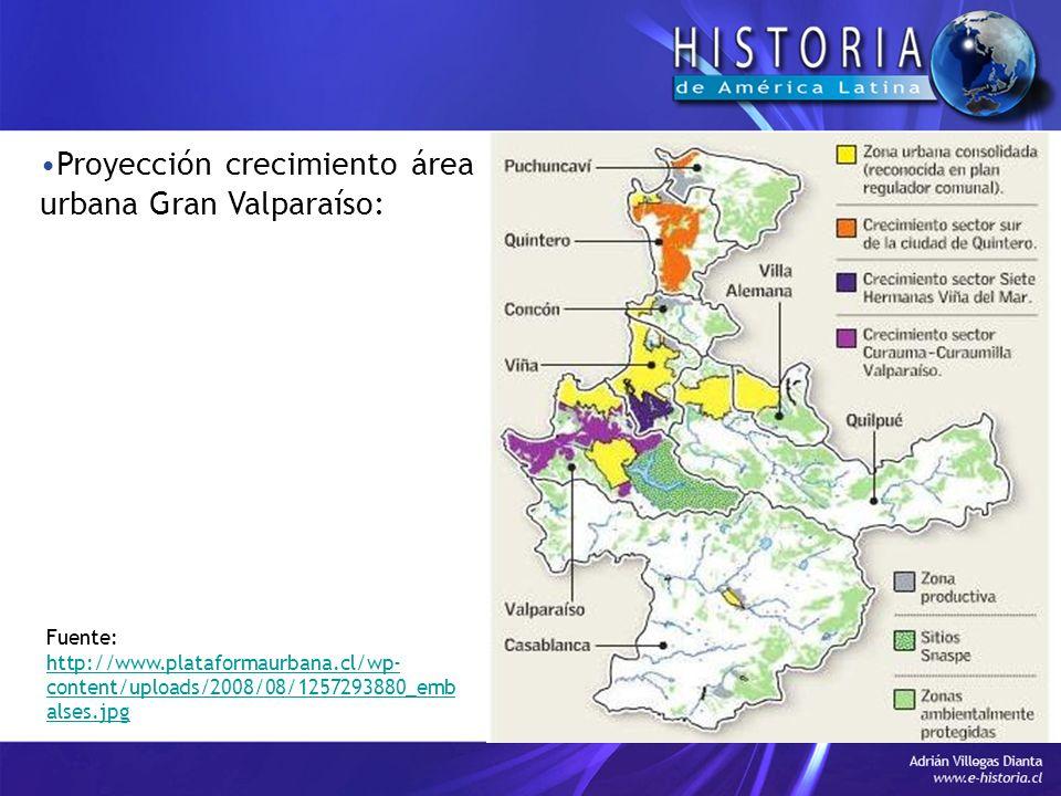 Proyección crecimiento área urbana Gran Valparaíso: