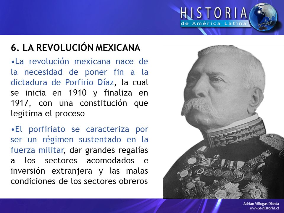 6. LA REVOLUCIÓN MEXICANA