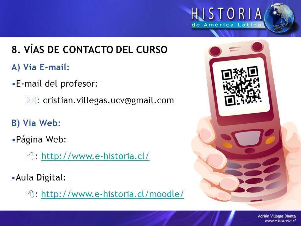 8. VÍAS DE CONTACTO DEL CURSO