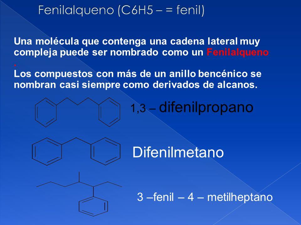 Fenilalqueno (C6H5 – = fenil)