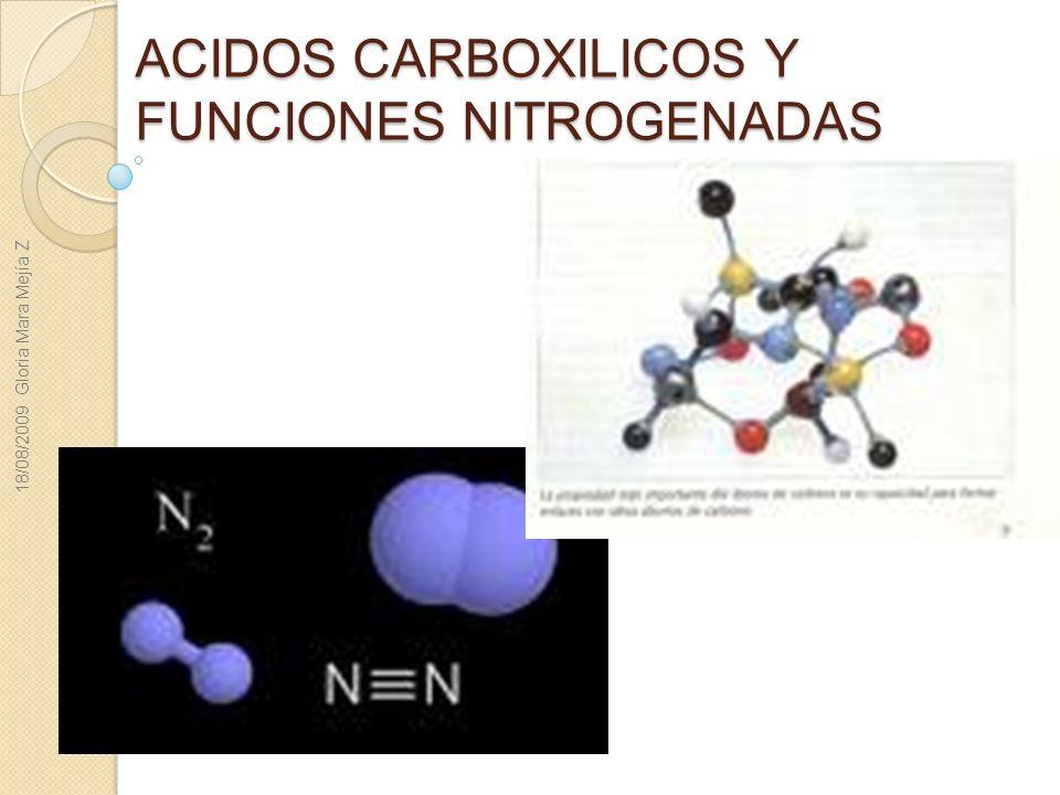 ACIDOS CARBOXILICOS Y FUNCIONES NITROGENADAS