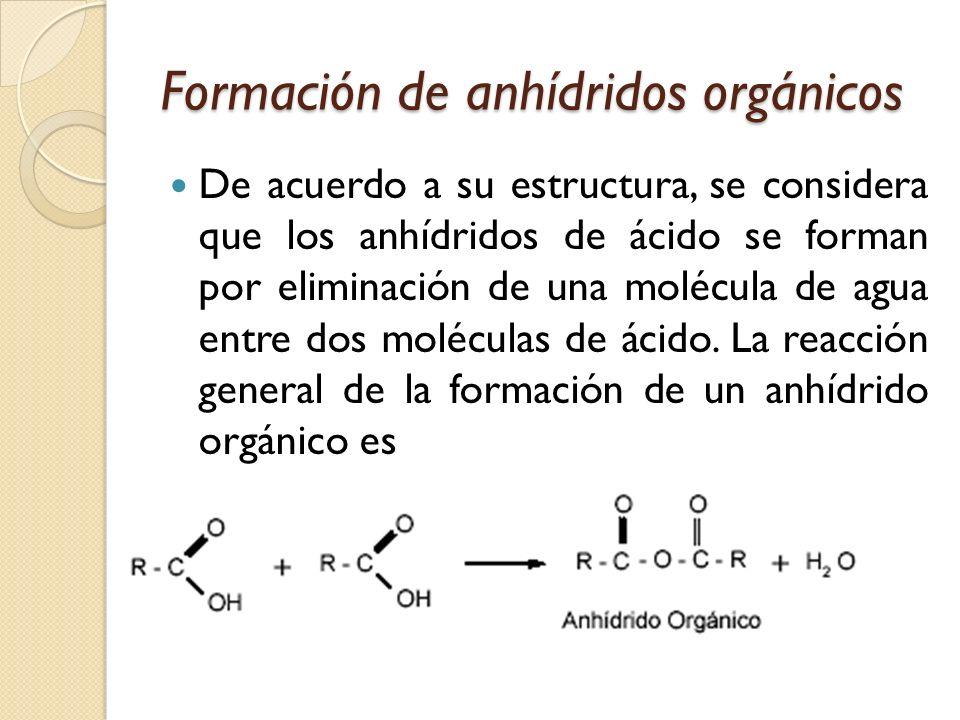 Formación de anhídridos orgánicos