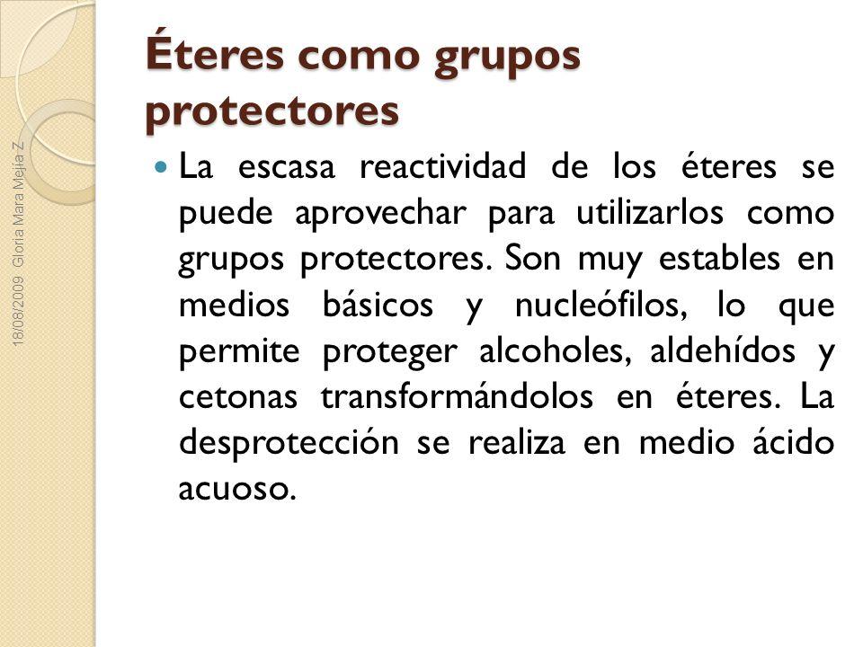 Éteres como grupos protectores