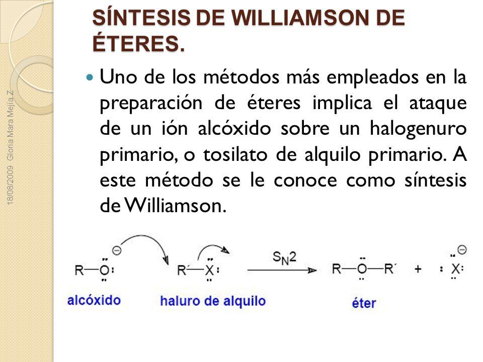 SÍNTESIS DE WILLIAMSON DE ÉTERES.