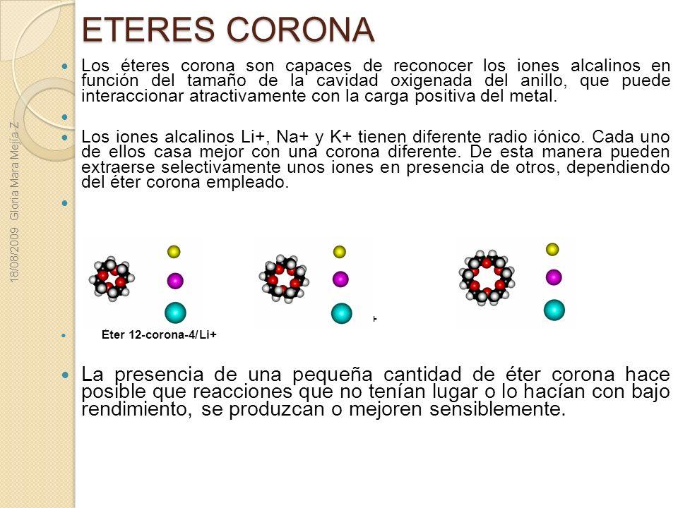 Éter 15-corona-5/Na+ Éter 18-corona-6/K+