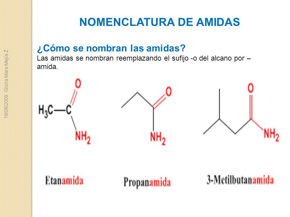 NOMENCLATURA DE AMIDAS