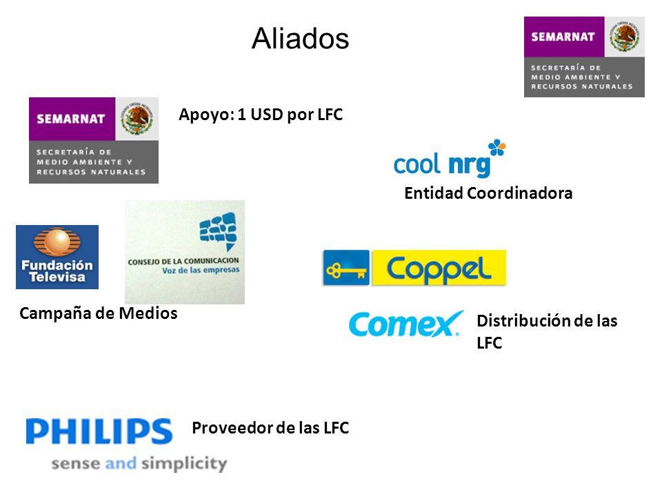Aliados Apoyo: 1 USD por LFC Entidad Coordinadora Campaña de Medios