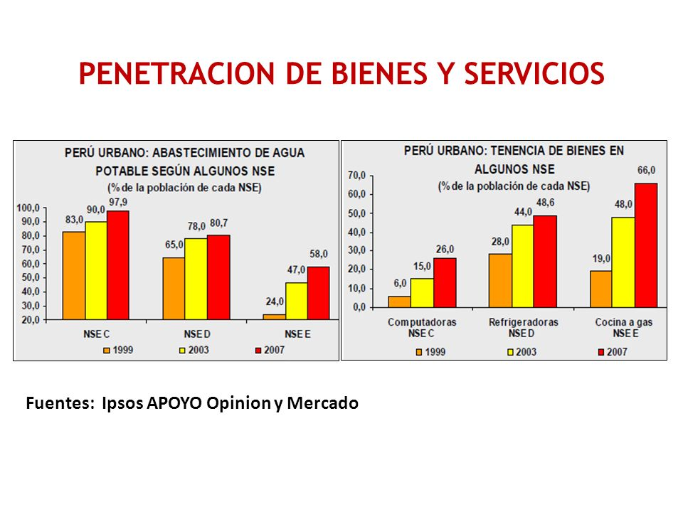 PENETRACION DE BIENES Y SERVICIOS
