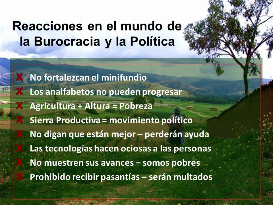 Reacciones en el mundo de la Burocracia y la Política
