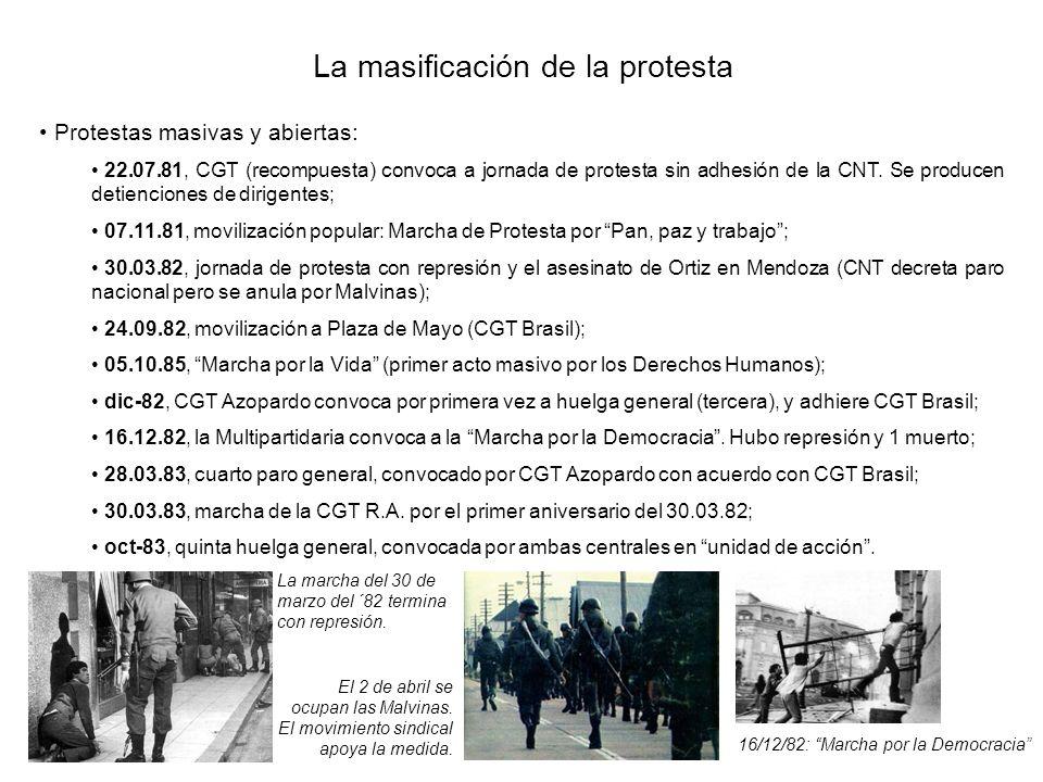 La masificación de la protesta