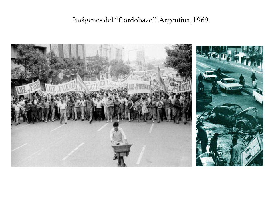 Imágenes del Cordobazo . Argentina, 1969.