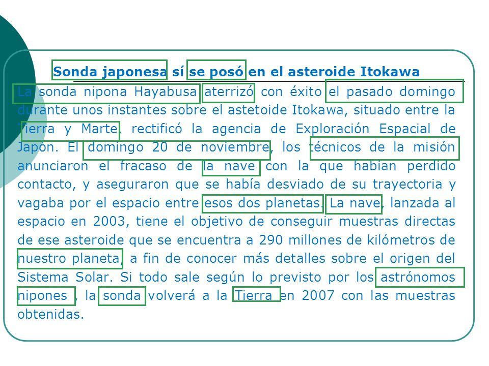 Sonda japonesa sí se posó en el asteroide Itokawa