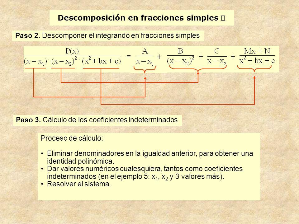 Descomposición en fracciones simples II