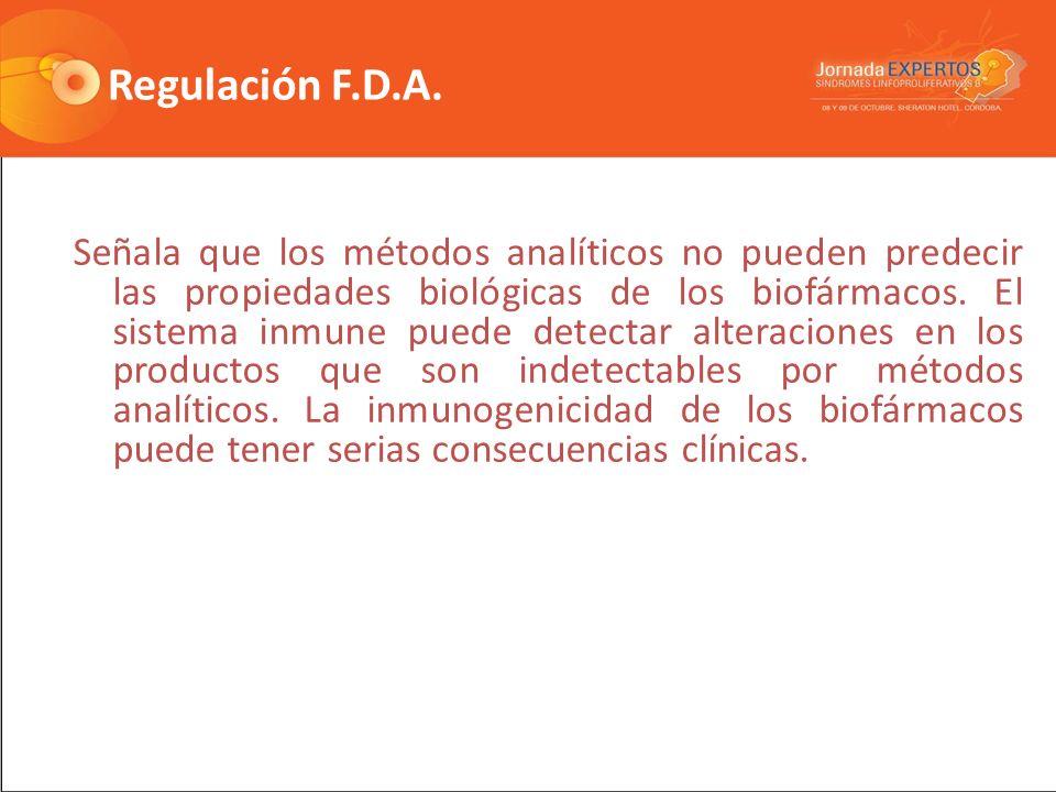Regulación F.D.A.