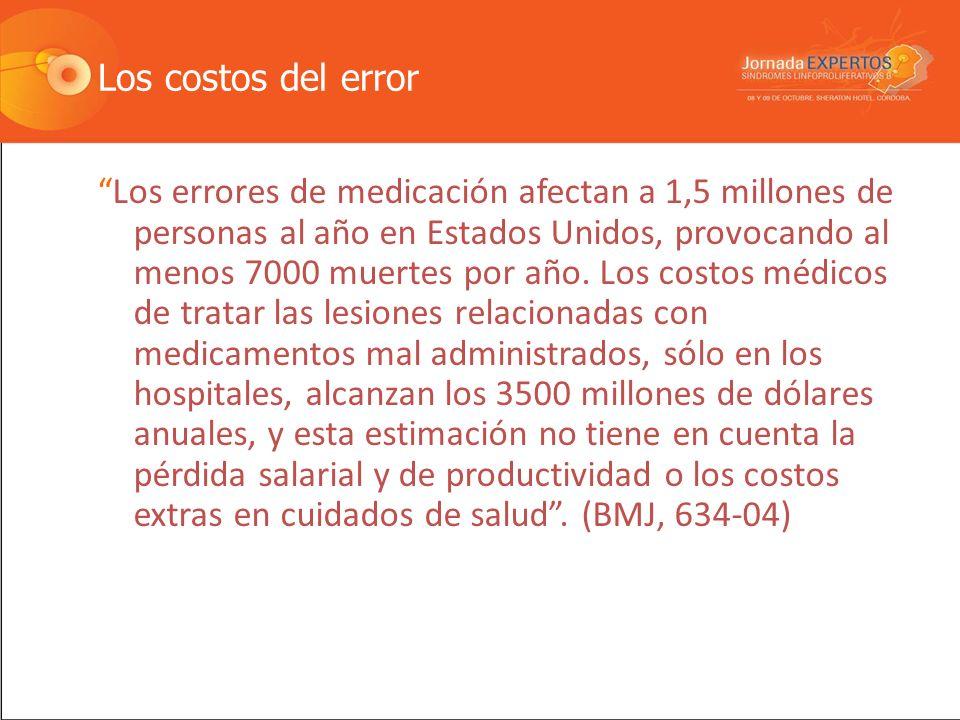 Los costos del error