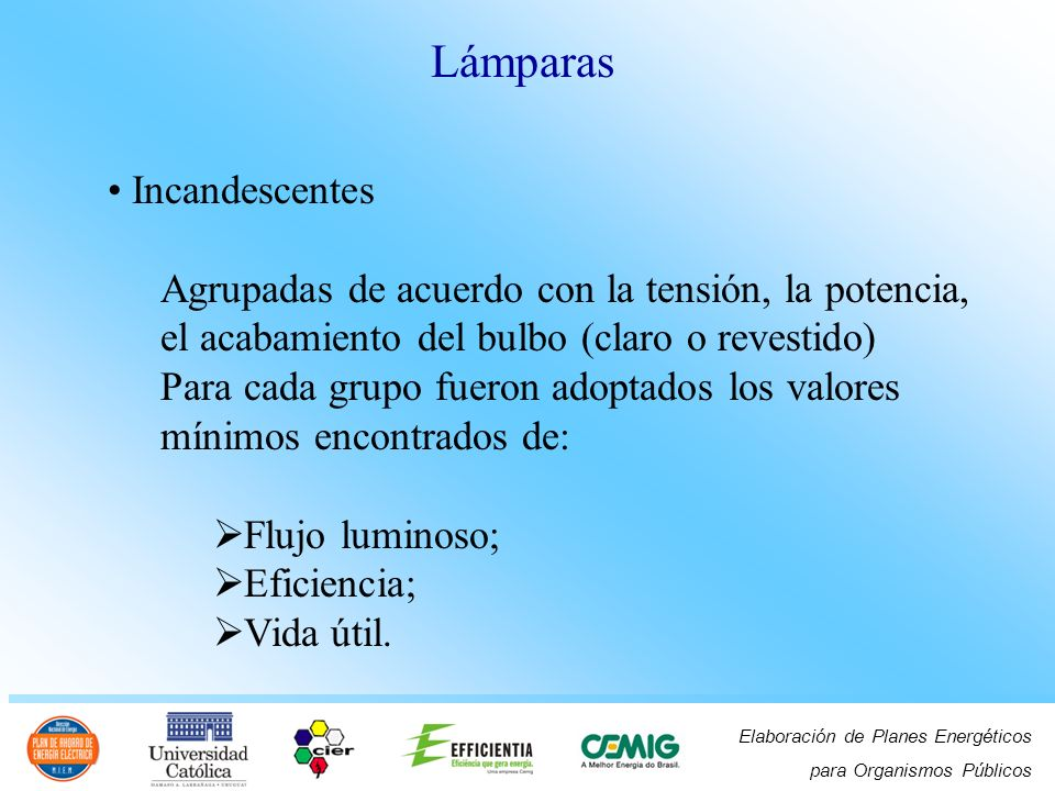 Lámparas Incandescentes