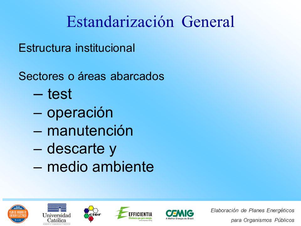 Estandarización General